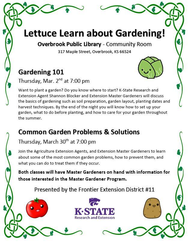 Gardening Program Flyer